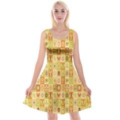 Texture Background Stripes Color Animals Reversible Velvet Sleeveless Dress