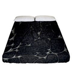 Texture Network Fitted Sheet (california King Size)