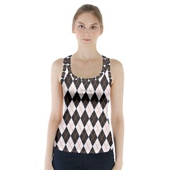Tumblr Static Argyle Pattern Gray Brown Racer Back Sports Top