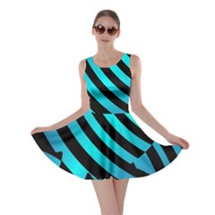 Turtle Swimming Black Blue Sea Skater Dress