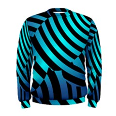 Turtle Swimming Black Blue Sea Men s Sweatshirt