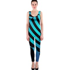 Turtle Swimming Black Blue Sea OnePiece Catsuit