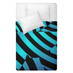 Turtle Swimming Black Blue Sea Duvet Cover Double Side (Single Size)