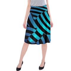 Turtle Swimming Black Blue Sea Midi Beach Skirt