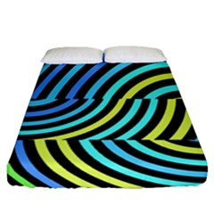 Twin Tunnels Visual Illusion Casino Art Fitted Sheet (queen Size)