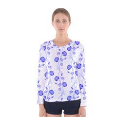 Vertical Floral Women s Long Sleeve Tee