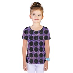 Circles1 Black Marble & Purple Marble (r) Kids  One Piece Tee