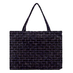 Brick1 Black Marble & Purple Marble Medium Tote Bag