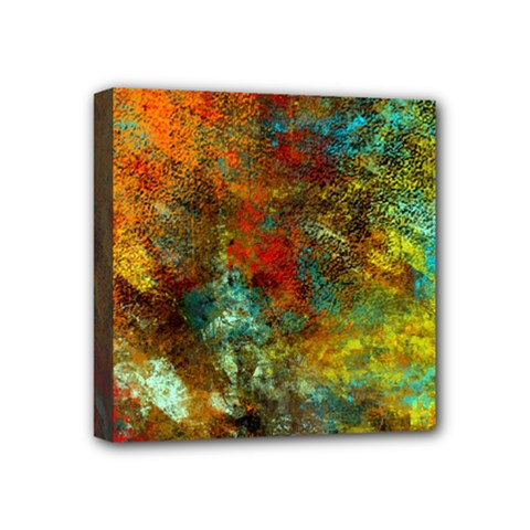 Mixed Abstract Mini Canvas 4  X 4