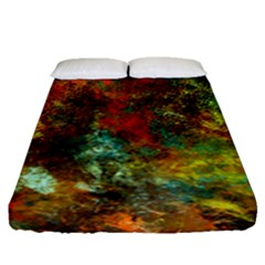 Mixed Abstract Fitted Sheet (queen Size)