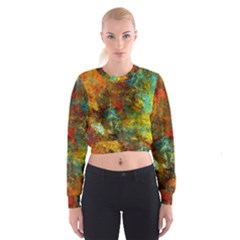 Mixed Abstract Women s Cropped Sweatshirt