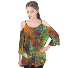 Mixed Abstract Flutter Tees