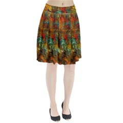 Mixed Abstract Pleated Skirt
