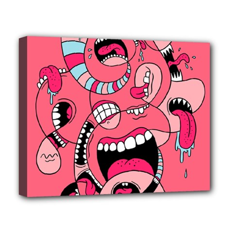 Big Mouth Worm Deluxe Canvas 20  X 16