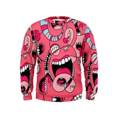 Big Mouth Worm Kids  Sweatshirt