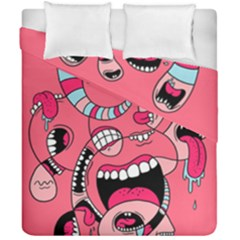 Big Mouth Worm Duvet Cover Double Side (california King Size)