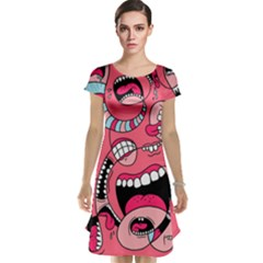 Big Mouth Worm Cap Sleeve Nightdress