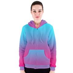 Blue Pink Purple Women s Zipper Hoodie