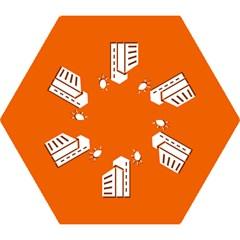 Building Orange Sun Copy Mini Folding Umbrellas