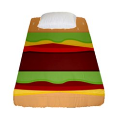 Cake Cute Burger Copy Fitted Sheet (single Size)