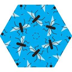 Mosquito Blue Black Mini Folding Umbrellas