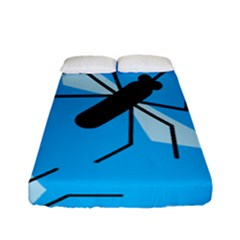 Mosquito Blue Black Fitted Sheet (full/ Double Size)
