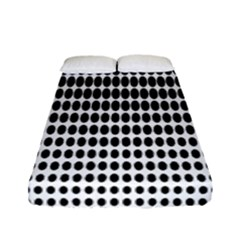 Dark Circles Halftone Black White Copy Fitted Sheet (full/ Double Size)