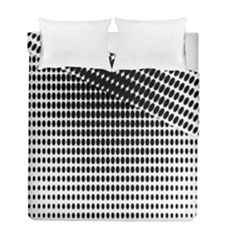Dark Circles Halftone Black White Copy Duvet Cover Double Side (full/ Double Size)