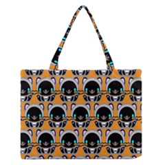 Cute Panda Medium Zipper Tote Bag