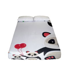 Panda Cute Animals Fitted Sheet (full/ Double Size)