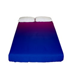 Pink Blue Purple Fitted Sheet (full/ Double Size)