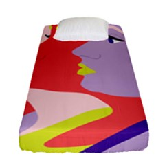 Three Beautiful Face Copy Fitted Sheet (single Size)