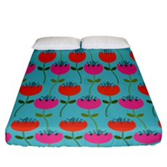 Tulips Floral Flower Fitted Sheet (california King Size)