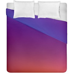 Purple Orange Blue Duvet Cover Double Side (california King Size)