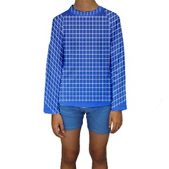 Background Diamonds Computer Paper Kids  Long Sleeve Swimwear