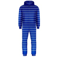 Background Diamonds Computer Paper Hooded Jumpsuit (men)