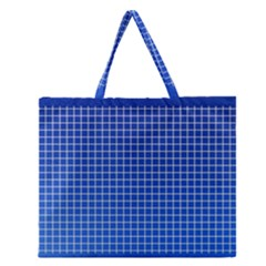 Background Diamonds Computer Paper Zipper Large Tote Bag
