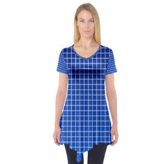 Background Diamonds Computer Paper Short Sleeve Tunic