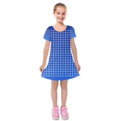 Background Diamonds Computer Paper Kids  Short Sleeve Velvet Dress