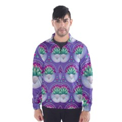 Background Floral Pattern Purple Wind Breaker (men)