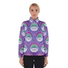 Background Floral Pattern Purple Winterwear