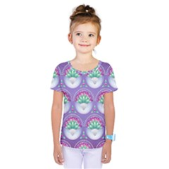 Background Floral Pattern Purple Kids  One Piece Tee