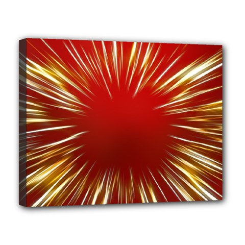 Color Gold Yellow Background Canvas 14  X 11