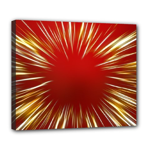 Color Gold Yellow Background Deluxe Canvas 24  X 20