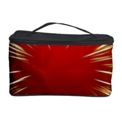 Color Gold Yellow Background Cosmetic Storage Case