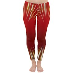 Color Gold Yellow Background Classic Winter Leggings