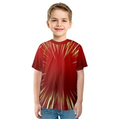 Color Gold Yellow Background Kids  Sport Mesh Tee