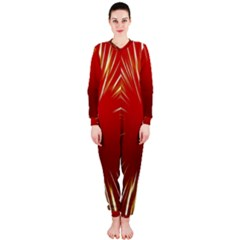 Color Gold Yellow Background Onepiece Jumpsuit (ladies)