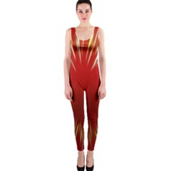 Color Gold Yellow Background Onepiece Catsuit