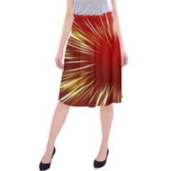 Color Gold Yellow Background Midi Beach Skirt